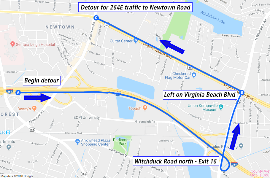 Vdot Traffic Map.64 264 Detours Scheduled As Project Nears Milestone